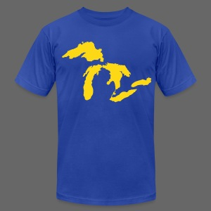 Just Michigan Men's American Apparel Tee (not glow in dark) - Men's Fine Jersey T-Shirt