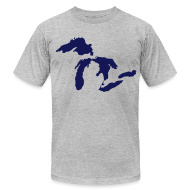 T-Shirts ~ Men's T-Shirt by American Apparel ~ Just Michigan Men's American Apparel Tee (not glow in dark)
