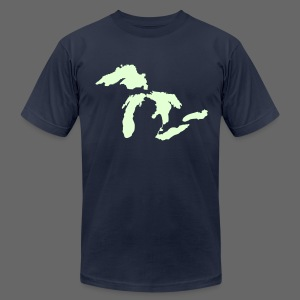 Just Michigan Glow in the Dark Men's American Apparel Tee - Men's T-Shirt by American Apparel