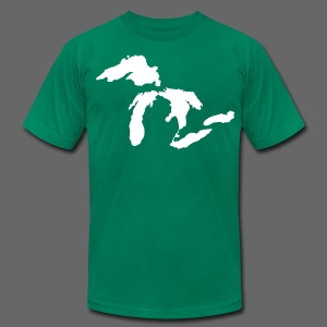 Just Michigan Men's American Apparel Tee (not glow in dark) - Men's T-Shirt by American Apparel