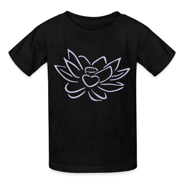 Black Lotus heart Kids' Shirts