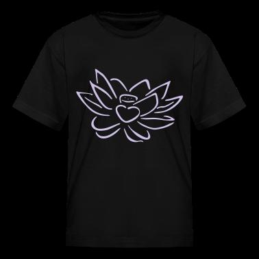 Black Lotus heart Kids' Shirts