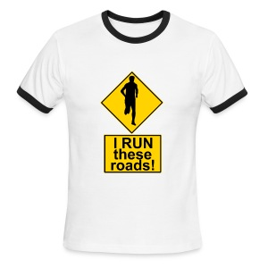 Men's Ringer T-Shirt - triathlon,sports,running,quick,marathon