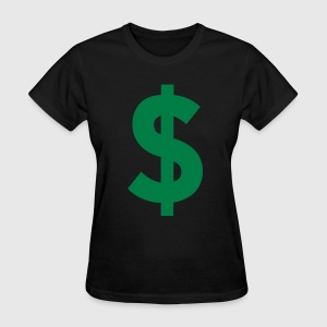Black Dollar Sign Women's T-Shirts - Women's T-Shirt