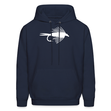 FLY FISHING VECTOR GRAPHIC - MEN'S HOODED SWEATSHIRT