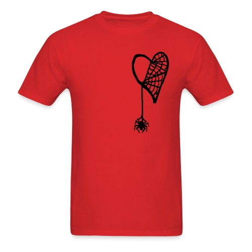 Cobweb Heart Tee - Men's T-Shirt