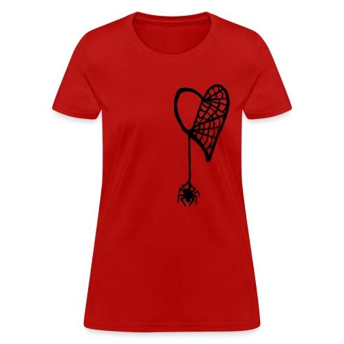 Cobweb Heart Lady's Tee - Women's T-Shirt