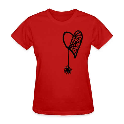 Cobweb Heart Lady's Tee - Women's T-Shirt