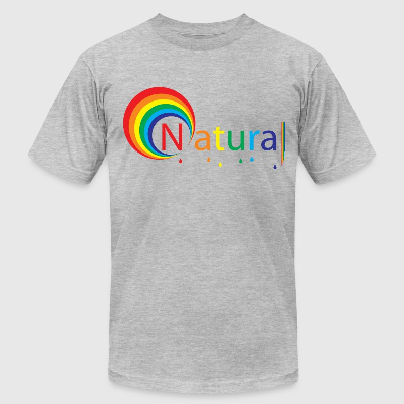 Heather grey natural colour T-Shirts - Men's T-Shirt by American Apparel
