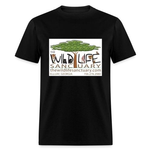 Men's Standard Weight Tee with Logo front - Men's T-Shirt