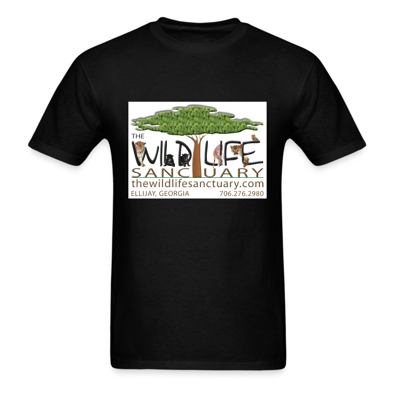 Men's Standard Weight Tee with Logo front - Men's T-Shirt