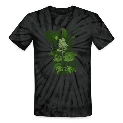 Unisex Tie Dye T-Shirt with Stylized logo - Unisex Tie Dye T-Shirt