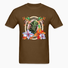 Tropical Marijuana T Shirt 12 OZ Bud