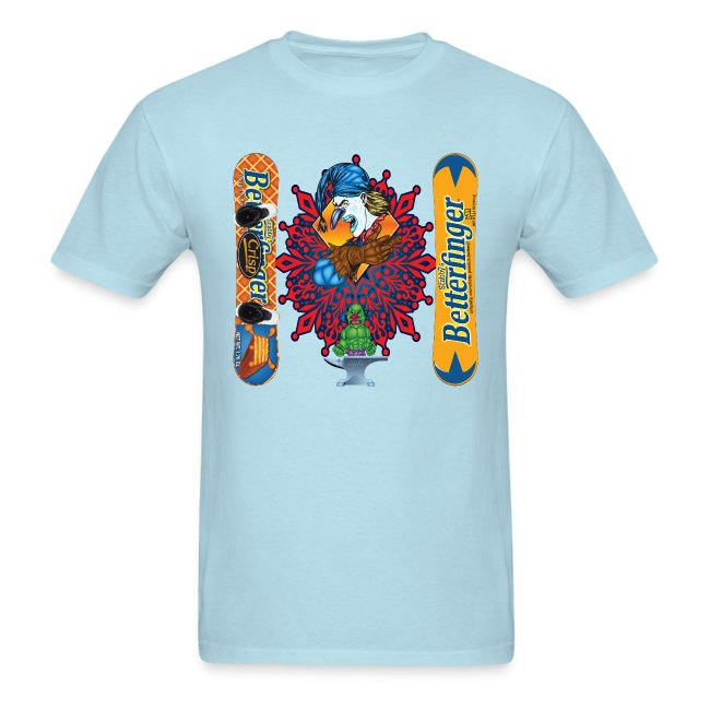 Greenboy Inc Evil Clown T Shirt Butterfinger Snowboard Mens T Shirt