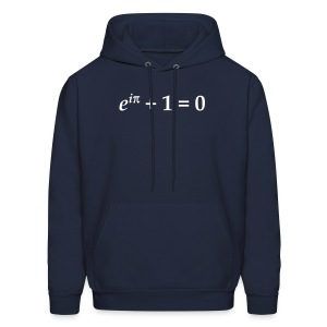 YellowIbis.com 'Mathematics Physics' Men's / Unisex Hooded Longsleeved Sweatshirt:: Euler's Identity (Color Choice) - Men's Hoodie