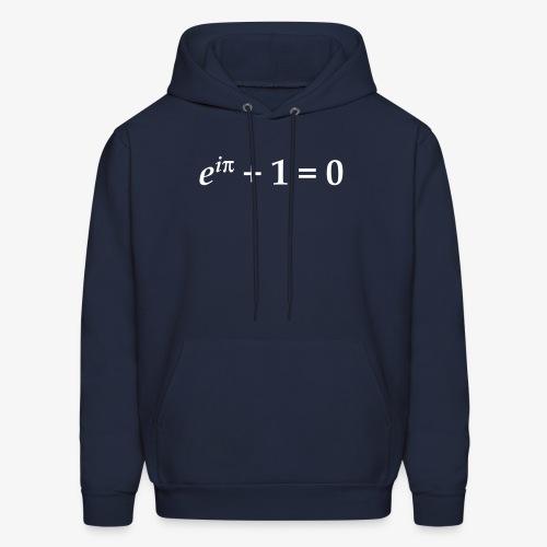 YellowIbis.com 'Mathematics Physics' Men's / Unisex Hooded Longsleeved Sweatshirt:: Euler's Identity (Color Choice) - Men's Hoodie