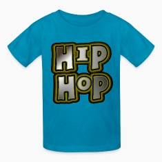 Orange Hip Hop, Large, With Metallic Effects--DIGITAL DIRECT PRINT Kids' Shirts