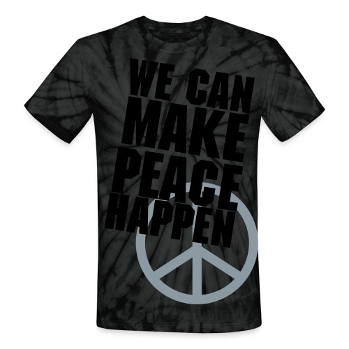 Make Peace Happen - Unisex Tie Dye T-Shirt
