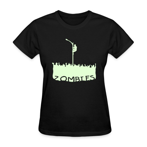 Glow in the dark Zombies - Women's T-Shirt