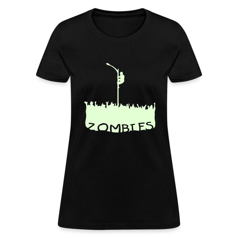 Glow in the dark Zombies - Women's T-Shirt