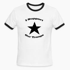 White/black support our troops T-Shirts