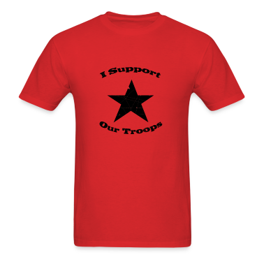 Support our troops t shirt spreadshirt for Red support our troops shirts