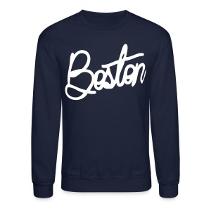 Boston Cursive Men's Crewneck Sweatshirt - Crewneck Sweatshirt