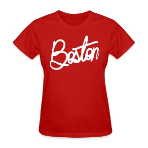 Boston Cursive Women's Standard Weight Tee - Women's T-Shirt