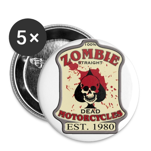 Zombie Motorcycles Pins - Small Buttons
