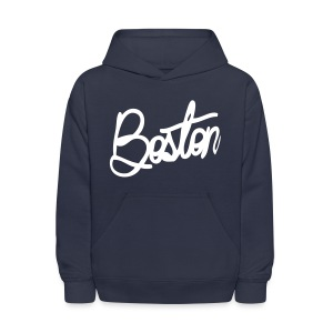 Boston Cursive Kid's Hooded Sweatshirt - Kids' Hoodie