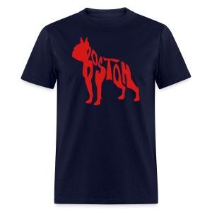 Boston Terrier Beantown Men's Standard Weight T-Shirt - Men's T-Shirt