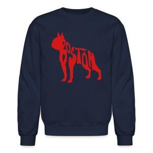 Boston Terrier Men's Crewneck Sweatshirt - Crewneck Sweatshirt