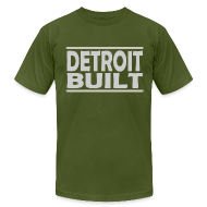 T-Shirts ~ Men's T-Shirt by American Apparel ~ Detroit Clothing Built Men's American Apparel Tee