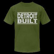 T-Shirts ~ Men's T-Shirt by American Apparel ~ Detroit Clothing Built Men's American Apparel Tee