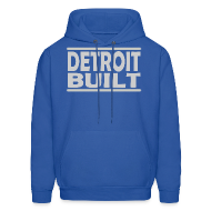 Hoodies ~ Men's Hoodie ~ Detroit Clothing Built Men's Hoody Sweatshirt