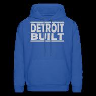 Hoodies ~ Men's Hoodie ~ Detroit Clothing Built Men's Hoody Sweatshirt