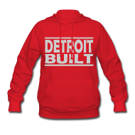 Hoodies ~ Women's Hoodie ~ Detroit Clothing Built Women's Hooded Sweatshirt