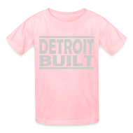 Kids' Shirts ~ Kids' T-Shirt ~ Detroit Clothing Built Kid's T-Shirt