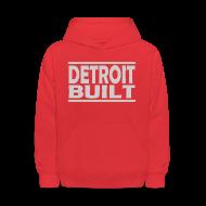 Sweatshirts ~ Kids' Hoodie ~ Detroit Clothing Built Children's Hooded Sweatshirt
