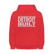 Sweatshirts ~ Kids' Hooded Sweatshirt ~ Detroit Clothing Built Children's Hooded Sweatshirt