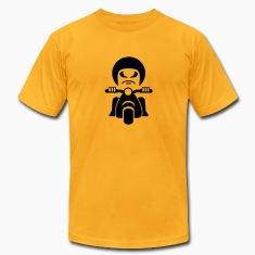 Gold bad dude - Rocker on a vespa (1c) T-Shirts