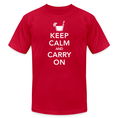 Red Keep Calm And Carry On T-Shirts