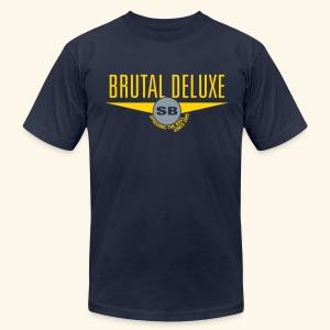 BRUTAL DLX (Silver) - Men's T-Shirt by American Apparel