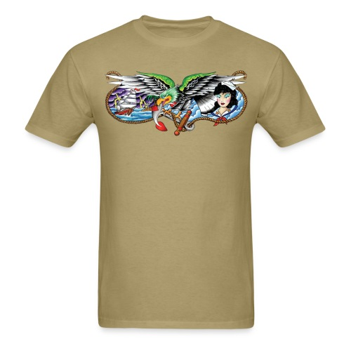 Eagle, Ship & Navy Girl - Men's T-Shirt