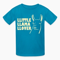 Orange little llama lover Kids' Shirts