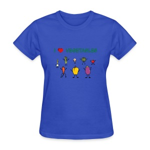 Powder blue I Love Vegetables Women's T-Shirts - Women's T-Shirt