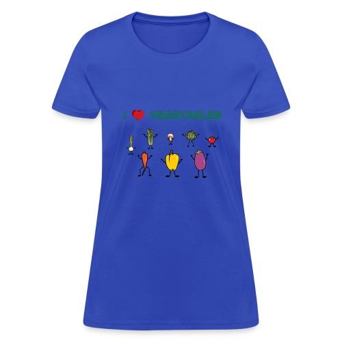 Powder blue I Love Vegetables Women's T-Shirts - Women's T-Shirt