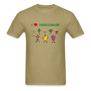 Natural I Love Vegetables T-Shirts - Men's T-Shirt