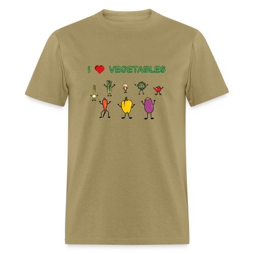 Natural I Love Vegetables T-Shirts - Men's T-Shirt