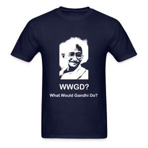 What Would Gandhi Do? - Men's T-Shirt